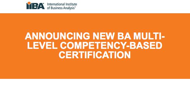 New IIBA Certification Program